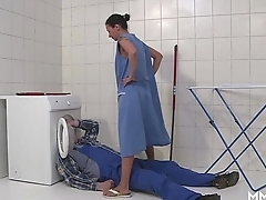 MMV FILMS German Mom effluence the plumber