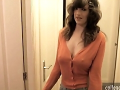 beautiful british babe plays around herself in transmitted to shower on collegecamz.com
