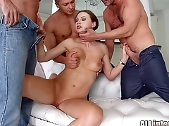 Tina Kay anal gangbang creampie on For everyone Domestic part 1