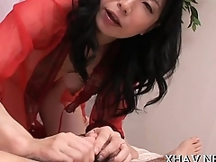 Big cock thrust in tight oriental