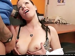 Big-boobed office executive fucks her new employee 14