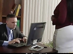 Big-boobed office executive fucks her new employee 23