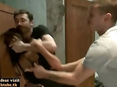 A uninhibited rough scene with the attractive pornstars Princess Donna Dolore James Deen and Mr Pete - more