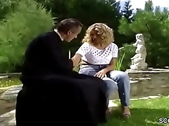 Hot MILF Anal Fucked Outdoor in German Classic Porn