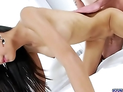 Asian ladyboy fucked connected with her gaping asshole