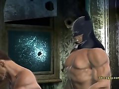 Joker together with Batman fuck Robin www.PromiscuousBoys.com.br