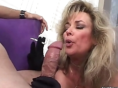 Sexy kirmess mature smokes and sucks cock