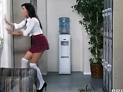 Hot students fuck along to lucky teacher&nbsp_Haley Wilde