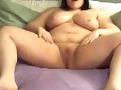 BBW Teen squirter pleasses herself with her toys