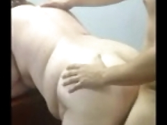 Cuckold films his BBW wife with her lover fucking