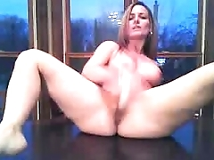 Shaved Pussy Masturbating On Get under one's Kitchen Table