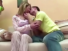 Step-Son Coax Young Step-Mom to Fuck as soon as Home Alone
