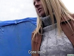 Public Blowjob From Sexy Czech Babe For Dollars 30