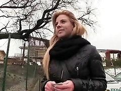 Public Blowjob From Off colour Czech Babe For Dollars 10