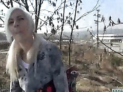 Public Blowjob From Sexy Czech Babe For Dollars 15