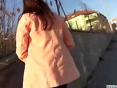 Public Blowjob From Sexy Czech Babe For Dollars 11