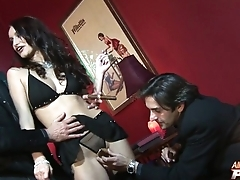 Skillful pornstar is ready just about take several cocks