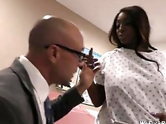 Pregnant black whore getting fuked wits white man