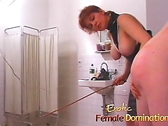Dominatrix makes a first time slave cry relative to hardly ever time-6