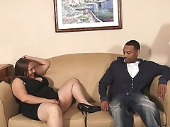 Fat white girl takes a broad in the beam starless cock