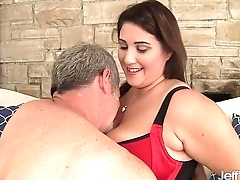 Thick and bonny plumper Angel DeLuca hardcore sex