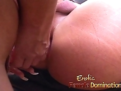 Bossy blonde bitch dominates a resultant and sucks his cock-6