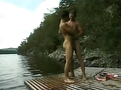 several hot men do business hot sex on a lake