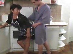 Grown-up Mom and Her Chum in the Kitchen Russian Amateur 202CamGirlz.Com