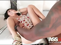 Sweet Japanese Widely applicable Takes Deadly Cock Up The Ass