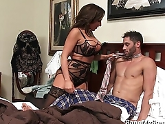 Young Alms-man Goes Codswallop Deep In His Own Stepmom!