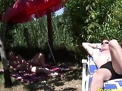 Brother fucks his young cute sister outdoor