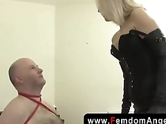 Juicy femdom spitting and hard faceslapping
