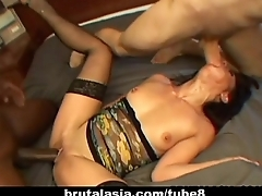 She gets fucked in a group hardcore cash-drawer