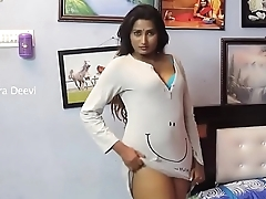 swathi naidu stripping colourless dress expose sexy bra